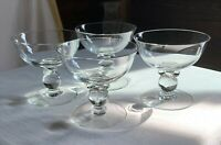 """Heisey """"Lariat"""" set of FOUR hand-blown crystal champagne/ice cream coupes."""