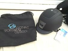 NEW CS OUTDOOR RIDING HAT,MATT BLACK,VENTED,SIZE 56 CM,6:7/8 BAG