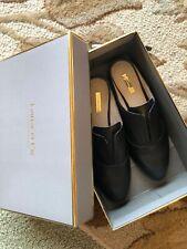 Louise et Cie 8.5 Black Leather Slides Flats