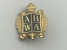 ABWA Lapel Pin Torch Wreath Shield American Business Women's Assoc  D2