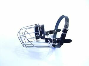 New Champion Strong Metal Wire Basket Dog Muzzle for  Dachshund & Other  J1 , J2