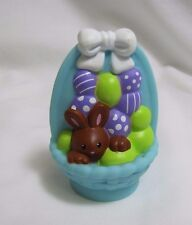 NEW! Fisher Price Little People EASTER EGG BASKET Chocolate Bunny Rabbit EGGS