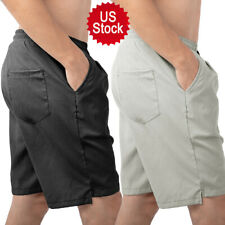 US HOT Men's Five-Point Casual Pants Athletic Shorts 3 Pockets Pants Gym Fitness