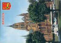 Bayeux la cathedrale notre dame cathedral 1990 postcard