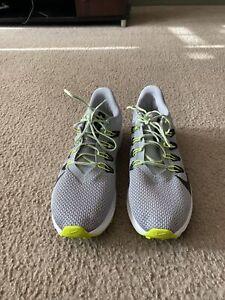 Nike Men's Quest 2 Running Shoes Size 13 NEW Smoke Grey/Black/Yellow CI3787-011