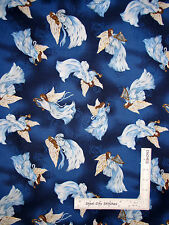 Religious Heaven Angel Wings Cotton Fabric Fabriquilt Inc Beautiful Place - Yard