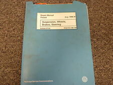 1995 1996 1997 Volkswagen VW Passat Suspension Brakes Service Repair Manual