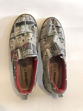 GAP KIDS Snoopy Charlie Brown PEANUTS Slip-on Canvas Shoes Sneakers Size 5