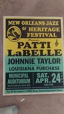 PATTI LABELLE JOHNNIE TAYLOR BOXING STYLE  CONCERT POSTER
