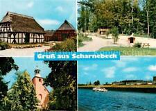 73691046 Scharnebeck_Lueneburg Fachwerkhaeuser Spielplatz Kirche Panorama Scharn