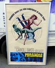 "Original 1969 Orgasmo(PARANOIA) 40""x60"" Theatre Movie Poster"