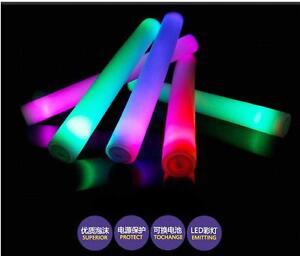 2/5PCS Light-Up Foam Sticks LED Rally Flashing Glow Stick Baton Wands