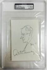 ART CARNEY Signed Autograph Sketch The Honeymooners Encapsulated PSA/DNA
