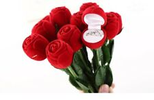 Red Rose Flower Ring Gift Box for Anniversary Wedding Proposal & Gifts