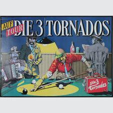 Die 3 Tornados auf Tour. Wunderbares Retro-Plakat der Agentur SehStern, Berlin.