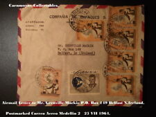 Airmail letter to Mr. Grenville Mackie P.O.Bo149 Belfast N. Ireland.AH0485.