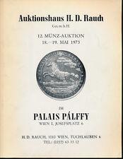 HN RAUCH Auktion mai 1973 n° 12 Wien  Monete antiche, austriache e tedesche