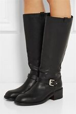 NEW RAG & BONE Black Leather Norton Tall Riding Boots Size 38/8