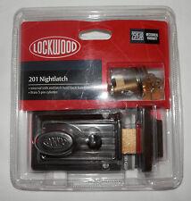 NEW Lockwood 201 Nightlatch With Cylinder - Includes 2 Keys 201FBDP Deadbolt