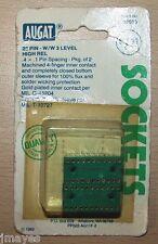 "Qty 2 AUGAT 22 PIN IC Sockets Gold Inserts .4"" x .1"" Spacing"