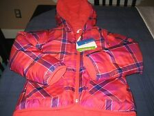 GIRLS COLUMBIA DUAL FRONT REVERSABLE JACKET SIZE 18/20 XL EXTRA LARGE  NWT