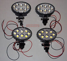 4 LED FLOOD LIGHT LAMP TRACTOR COMBINE BACKHOE Deere Cat Case Massey Kubota Ford