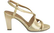 Reg$99 Sexy&Comfy YOU by Crocs Babasita Premium Leather Heels sandal Gold 8