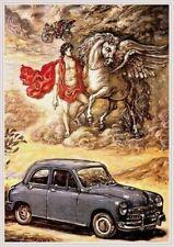 Farb-Plakat: Fiat 1400 1951 (Oldtimer, Automobil)