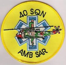 AIR FORCE PEDRO PATCH: Belgian Air Force Search & Rescue SAR SQN 40 BAF SQN 40