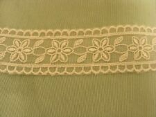 Organza Cream Embroidered  Galloon Lace Trim x 9.4 mts