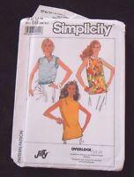 Simplicity Pattern 9204 Misses' Sleeveless Tops Size BB Sm-M-L-XL- 1989 -- New