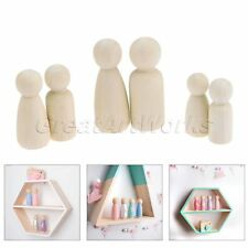 30pcs 3 Size Peg Dolls Natural Unfinished Ready for Paint Wooden Dolls DIY Craft