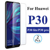 For Huawei P30 Tempered Glass Screen Protector Premium Protection , 1/ 2 PACK