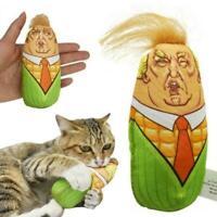 Cat Toys Stuffed Plush Corn Pet Kitten Squeaky Interactive Teaser AU BEST B6A8