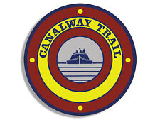 """4"""" canalway trail aquaduct parks bumper sticker decal usa made"""