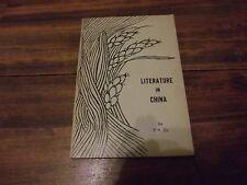 Literature in China, YH Su, Paperback 1959