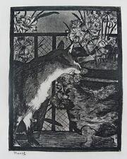 Fine & MINT Original EDOUARD MANET Etching, Le Chat et Les Fleurs c. 1869  cat
