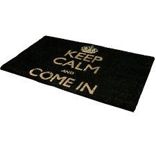 Keep Calm 40X70CM nera in PVC Fibra di Cocco PER INTERNI ZERBINO sporcizia Riposiziona pavimento PROTECTOR NUOVO