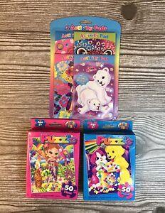 Lisa Frank Mixed Lot of 4 Activity Pads 2 Puzzles Rainbow Matinee Nalani NEW!