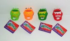 ORB ODDITEEZ SQUEEZIPALZ RINGZZ SET OF 4 COLORS #D GLITTER FROGS