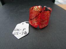 Un rojo y oro Tendence anillo de vidrio dicroico. tamaño de Reino Unido P --- US 7.75 (54)