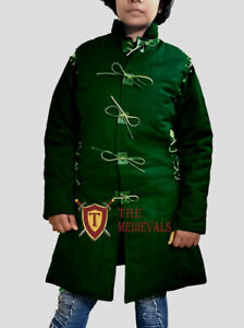 Medieval Thick Padded Female armor Gambeson LARP SCA HEMA theater costume DRESS