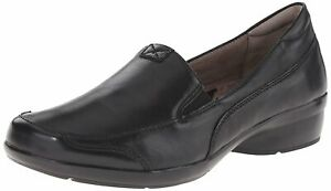 Naturalizer Womens Channing Leather Almond Toe Loafers, Black, Size 11.0 XHFq