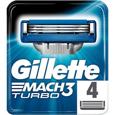 Gillette Mach3 Turbo Rasierklingen - 4er Pack Ersatzklingen