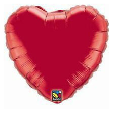 Party Supplies Wedding Birthday Ruby Red Heart 45 cm Foil Balloon