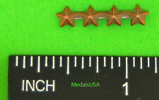 "Star Bronze campaign/battle (3/16"") 4 in a row Ribbon Bar Attachment Device"