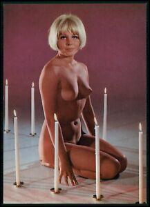 Pinup pin up CHRISTINE nude woman original old 1950s Daily Girl Press postcard