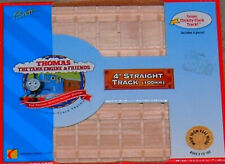"4"" STRAIGHT TRACK Thomas Wooden Railway Clickity-Clack Track NEW"