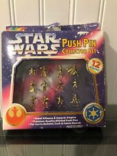 1997 Roseart Star Wards Push Pin Collector 12 Piece Set New In Box!