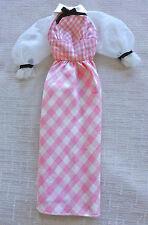 "Barbie Vintage mod era 1972 ""Quick Curl"" #4220 dress, near mint, Euc"